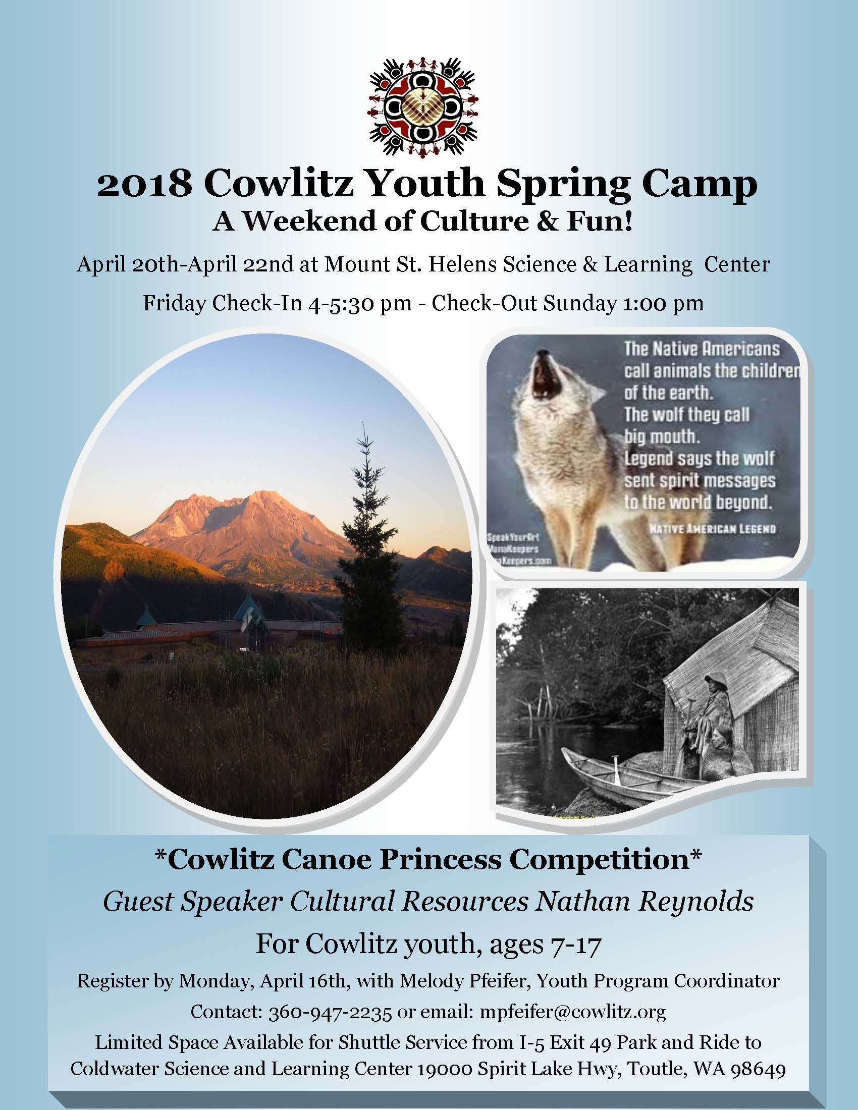 2018 Youth Spring Camp flyer