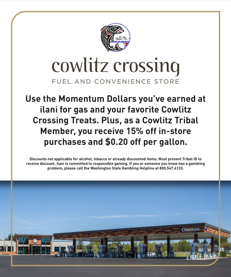 Cowlitz Crossing Tribal discount